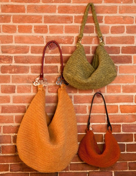 Adventure Bags Trio (Large Autumn Gold, Medium Sage, and Small Pumpkin)