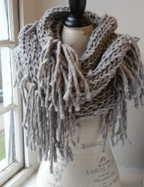 Creamy Pewter Cowl