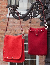 New York Bags in Red (left/long flap) and Garnet (right/short flap)
