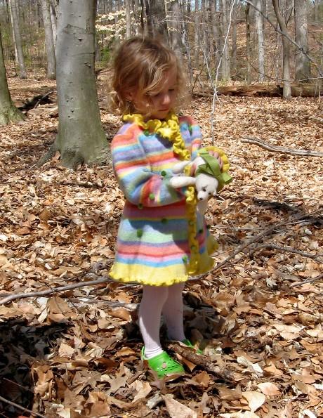Ella Coat for Girls, Sunrise Colorway