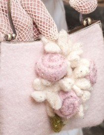 Baby Pink Rosettes and White Stephanotis