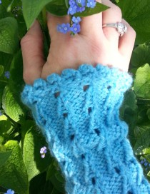 Bluebells Wristlets in Misty Blue